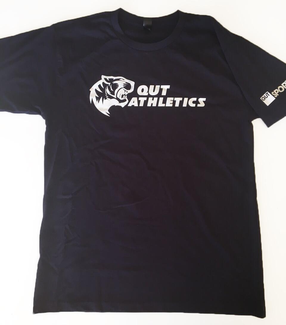 1 Colour Screen Print: QUT Athletics