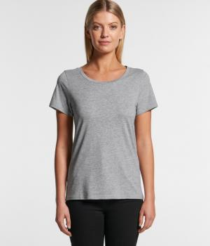 AS COLOUR WO'S SHALLOW SCOOP TEE