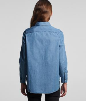 Wo's Blue Denim Shirt