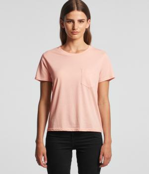 Wo's Square Pocket Tee