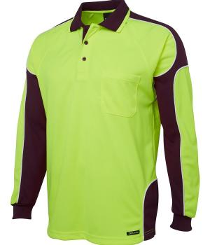 JB's Wear Hi Vis L/S Arm Panel Polo