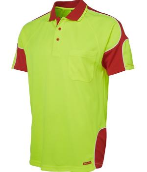 JB's Wear Hi Vis S/S Arm Panel Polo