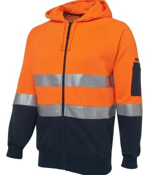 JB's Wear Hi Vis (D+N) Full Zip Fleecy Hoodie
