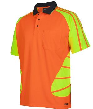 JB's Wear Hi Vis S/S Spider Polo