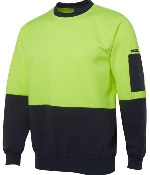 JB's Wear Hi Vis Fleecy Crew