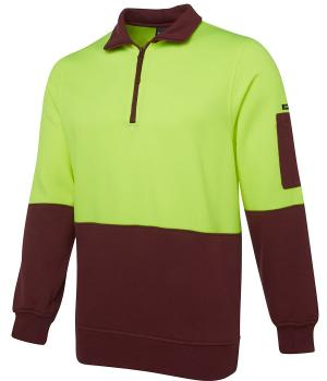 JB's Wear Hi Vis 1/2 Zip Fleecy Sweat