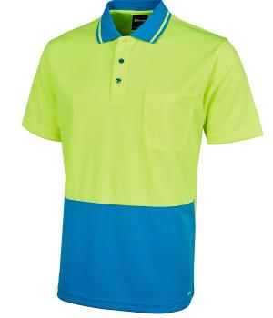 JB's Wear Hi Vis Non Cuff Traditional Polo