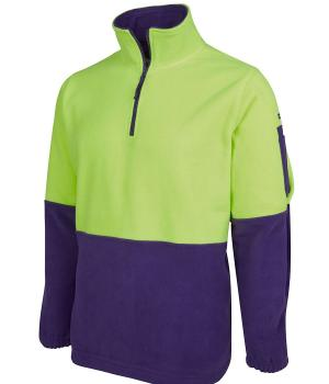 JB's Wear Hi Vis 1/2 Zip Polar Fleece