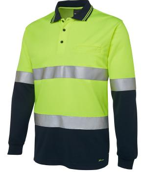 JB's Wear Hi Vis L/S (D+N) Traditional Polo