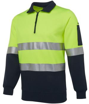 JB's Wear Hi Vis 1/2 Zip (D+N) Fleecy Sweat