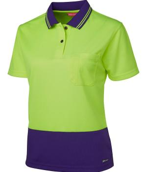 JB's Wear Ladies Hi Vis S/S Comfort Polo