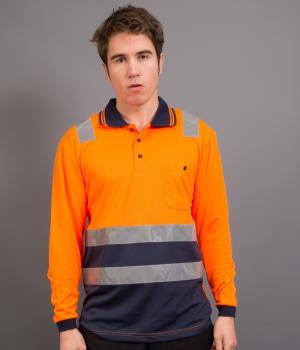 Orange & Navy