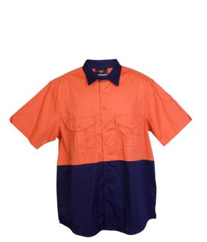 Ramo 100% Combed Cotton Drill Short Sleeve Shirt