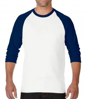 GILDAN 3/4 ADULT RAGLAN TEE | MEN