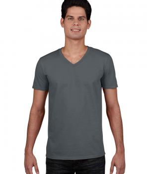 GILDAN Euro Fit Adult V-Neck T-Shirt