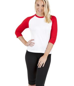 RAMO LADIES 3/4 SLEEVE RAGLAN TEE