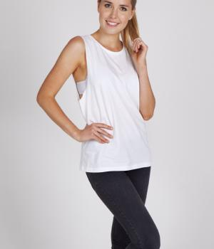 Ramo Ladies Combed Cotton Sleeveless Tee